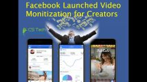 "Good News! ""Facebook for Creator"" Video Monitization Launched"